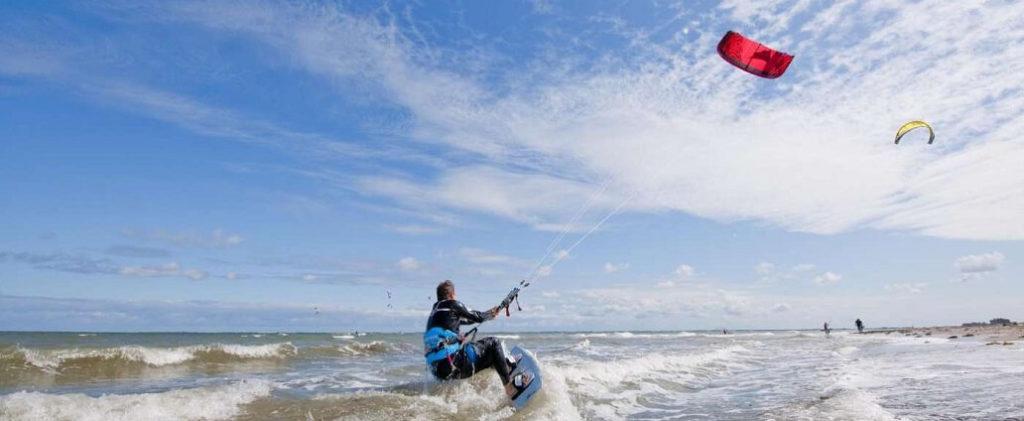 Kitesurfing on the Baltic Sea